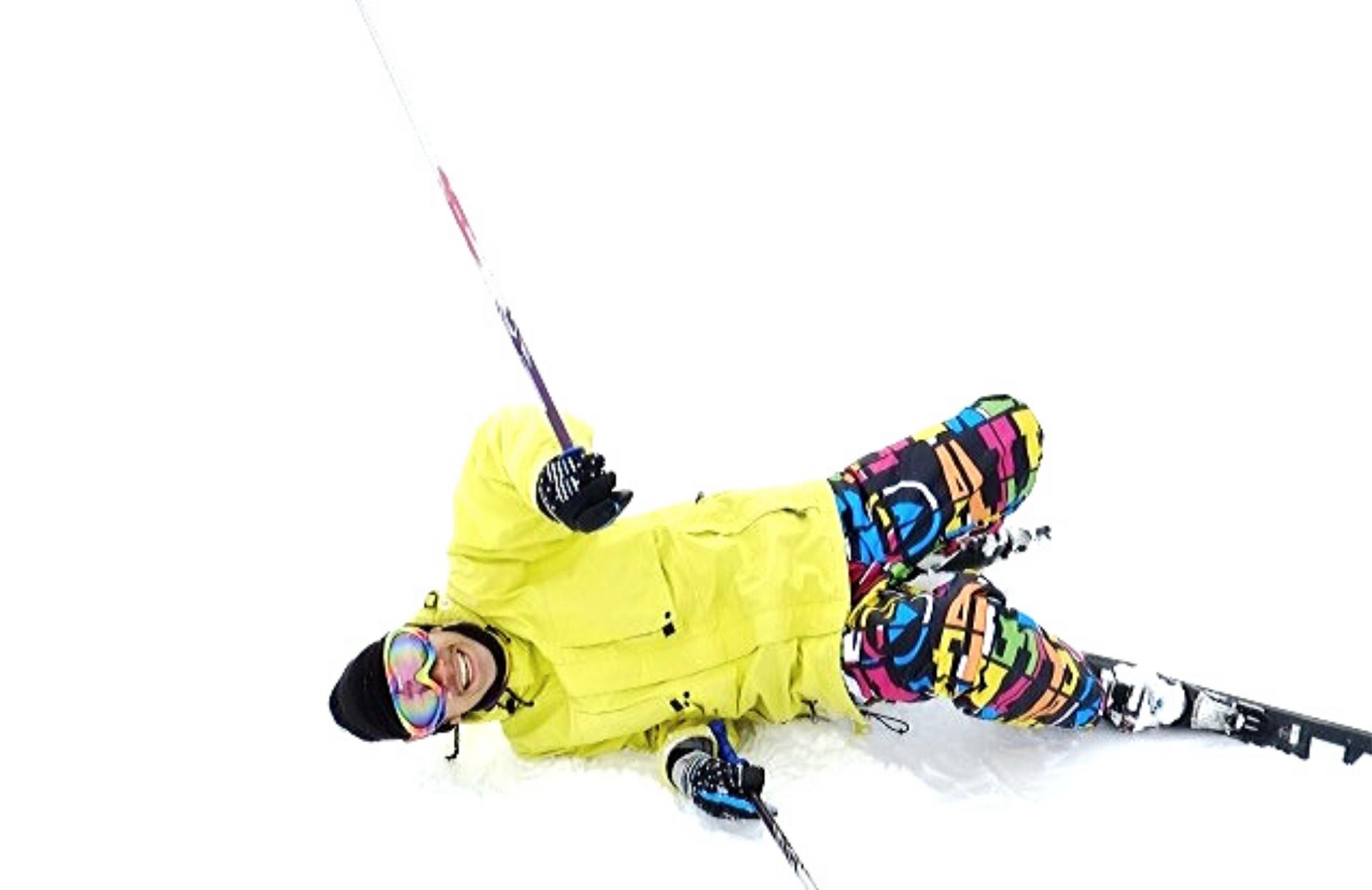 スキー転倒